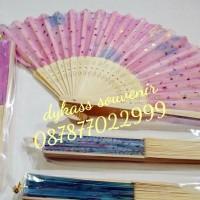 Jual souvenir pernikahan / seminar kipas jepang + plastik Murah