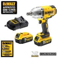 """Mesin Impact Wrench 1/2"""" Cordless Brushless18V DEWALT DCF899HP2"""