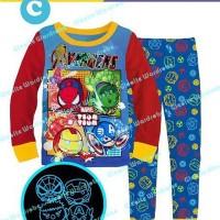 Jual Baju Anak Import / Piyama Anak Import / Baju Tidur Anak Avengers Murah