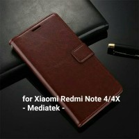 Jual Flip Cover / Wallet / Case Leather Xiaomi Redmi Note 4 FREE Mini S Pen Murah