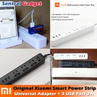 Xiaomi Universal Mi Smart Power Strip Plug Adapter + 3 USB Port 2A