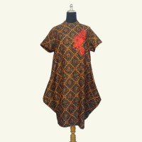 Modern Batik Dress - Batik Sogan Dress - Batik Pesta Elegan Murah