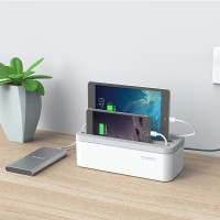 Jual ORICO PB1028 Storage Box Organizer for Desktop Charger - White Murah