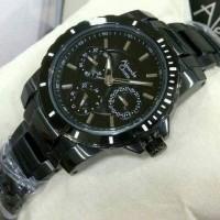Jam tangan alexandre christie 6141 black rose gold (wanita)