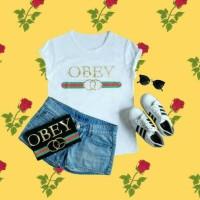 tumblr tee Obey Gucciii allsize Ld 90 Cm fit size s-L besar