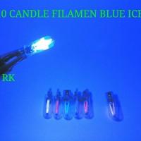 BLUE ICE T10 CANDLE FILAMEN LED   LED SENJA EDISON T10 PNP DC