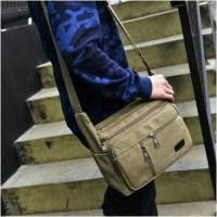 Jual tas Import Kanvas selempang/shoulder Canvas bag (code:logan) Murah