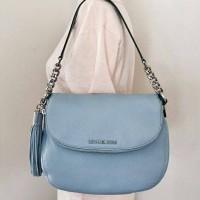 Michael Kors Bedford Tassel Leather shoulder Bag Sky Blue shoulder bag