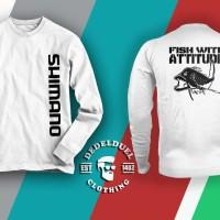 harga Kaos Baju T Shirt Mancing Shimano Fish With Attitude Tokopedia.com