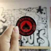 Thrasher Skate or Die logo sticker Red/Black Original