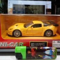 UNI-CAR Chevrolet Corvette CR-6 Kuning Skala 1:36