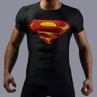 Kaos Under Armour Alter Ego SuperMan Man of Steel Slim Body Fit Pria