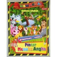 Buku Mewarnai Binatang Animals,Buku Aktifitas Anak TK PAUD