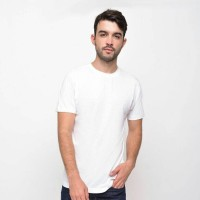 Jual SM Organic Cotton T-Shirt Light White (Man) - Kaos Polos Pria Murah