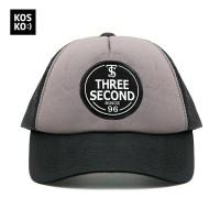 Topi 3 Second Men Patch logo trucker hat 1150