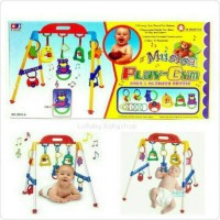 Baby Musical Play Gym ( Music Mainan ) / Baby's Activity Rattle ni