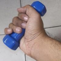 0,5 kg biru mini dumble/dumbbell/dumbel/dumbell (bukan barbel/barbell)