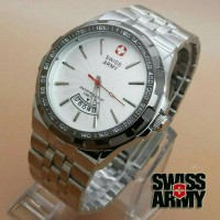 Jam Tangan Pria Swiss Army Day Date Silver Kw Super