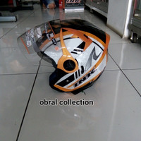 helm ink enzo motif orange doble visor