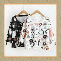 Tunik/baju Wanita/sabrina/baju Atasan/qilla Cat