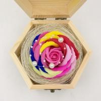 Jual Bunga Mawar Fragrance Flower Rose/Bunga Sabun+Vintage Wooden Box Murah