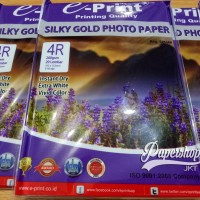 GROSIR!!! Kertas Foto 4R A6 260GSM Silky Gold Photo Paper Glossy