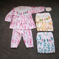 SPY11 Setelan Baju Panjang Bayi Perempuan Motif Bear Piyama Baju Tidur