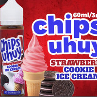 Chips Uhuy Liquid | Strawberry, Cookie and Ice Cream | 60ml 3mg