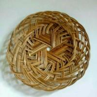 Piring Bambu Praktis ISI 10 Pcs, Lidi Anyaman, Wadah, Alas Kertas Nasi