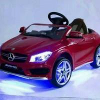 Mobil Mini mainan aki Mercedes Benz CLA 45 AMG Pakai Remote Like pliko