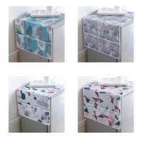 Taplak kulkas alas kulkas dengan kantong penyimpanan di 2 sisi HPD030