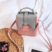 Tas Sling Bag Ransel Kuliah Pink Wanita Jinjing Impor Selempang