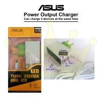 Charger Asus 2 USB Bisa Ngcas 3 HP Sekaligus