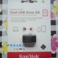 Jual Flashdisk Ori Sandisk Ultra OTG 16gb Dual Usb On The Go 16 Gb Resmi Murah