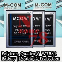 Baterai Polytron Wizard Quadra V W7531 Pl-8ad6 Double Ic Protection