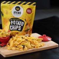 irvins salted egg potato chips 230 gr snack irvins makanan ringan unik
