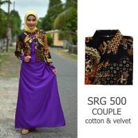Jual couple batik sarimbit gamis baju pesta sepasang pasangan SRG 500 Murah