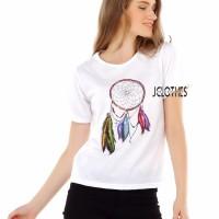 Kaos Wanita / Tumblr Tee Lengan Pendek Dream Catcher - Putih