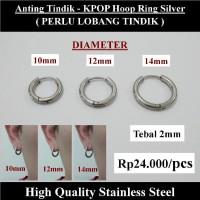 Anting Tindik Cowok Pria - KPOP Hoop Ring Silver