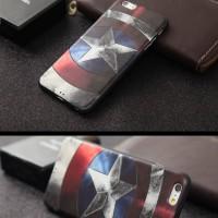 Jual iPhone 6 Plus Unique 3D TPU Soft Case Captain America Superhero Murah