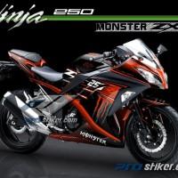 Striping Ninja 250 FI Motif Grafis Racing MONSTER ZX Terbaru