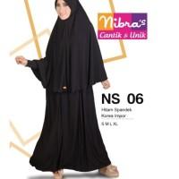 Gamis Nibras Syar'i Size XS/S/M/L/XL - NS 06 HITAM