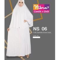 Gamis Nibras Syar'i Size XS/S/M/L/XL - NS 06 PUTIH