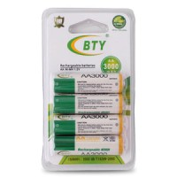 Rechargeable battery BTY aa 3000mah