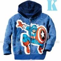 Jual jaket anak laki laki / jaket kaos hoodie hm 26k captain america kapten Murah