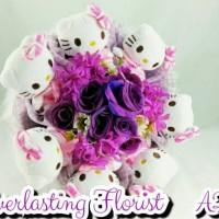 Jual Bucket Hello Kitty (A217) Buket Bunga Boneka Bouquet Wedding Wisuda Murah