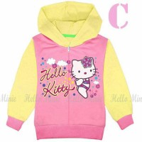 Jual jaket anak perempuan / jaket kaos hoodie hm26c hello kitty Murah