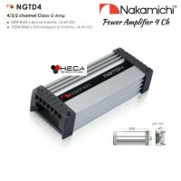 Power Amplifier 4-Channel Nakamichi NGTD-4 Audio Mobil 4Ch NGTD4