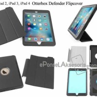 iPad 2, 3, 4 otterbox defender flip cover Case Full Protect