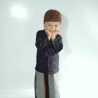 Jual setelan anak(baju koko hitam & celana sarung anak wadimor)ukuran 3-5th Murah